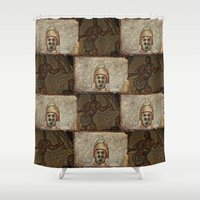 gladiator Shower Curtains featuring Gladiator II by Alec Bancher