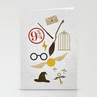 potter Stationery Cards featuring Minimalist Potter by Luis Urrutia