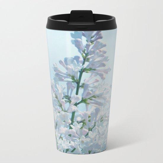 SOFT BLUE LILAC Metal Travel Mug