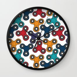 Pattern with spinners Wall Clock