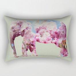 Cherry blossom Elephant Rectangular Pillow