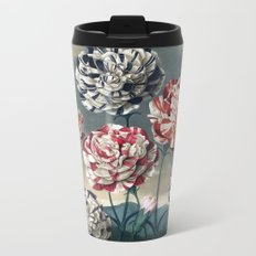Carnation Botanical Plate from The Temple of Flora Metal Travel Mug