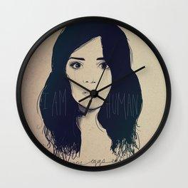 I am Human Wall Clock