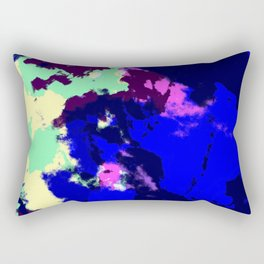 Ichithomie - Abstract Colorful Batik Camouflage Tie-Dye Style Pattern Rectangular Pillow
