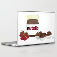 nutella Laptop & iPad Skins featuring Happy break! by Cristina Munoz
