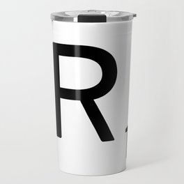 Letter R - Custom Scrabble Letter Tile Art - Scrabble R Initial Travel Mug