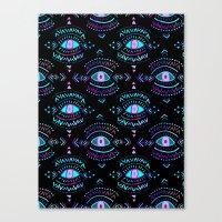 third eye Canvas Prints featuring Third Eye by Schatzi Brown