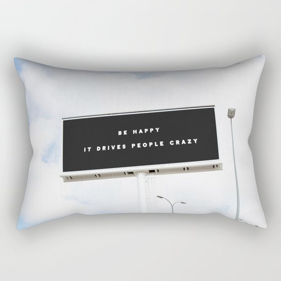 HAPPINESS Rectangular Pillow
