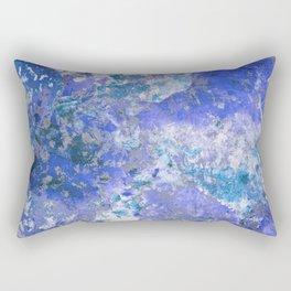 Cornflower Blue Abstract Painting Rectangular Pillow