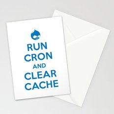 Run Cron and Clear Cache Stationery Cards
