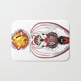 Cosmic Bloodshot Dragon Bath Mat