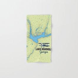 Lake Seminole Georgia map Hand & Bath Towel