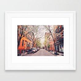 New York City - Springtime in the West Village Framed Art Print