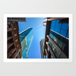 Monumental Skyscrapers in Sydney Art Print