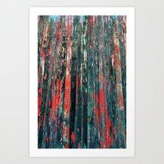 Red Splinters Art Print