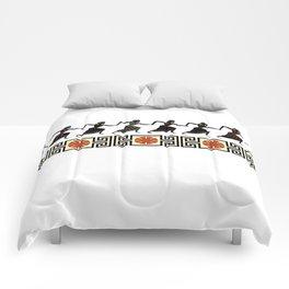 Line of Etruscan Dancers Comforters