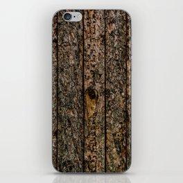 Rough Pine Planks iPhone Skin