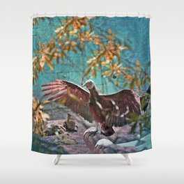 Vulture Rise of the Fire Wizard Shower Curtain
