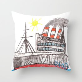 Full Steam Ahead! Throw Pillow
