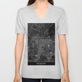 Denver Black Map Unisex V-Neck