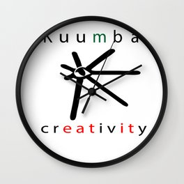 kuumba = creativity Wall Clock