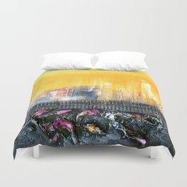 Art.For the people by Ildiko Csegoldi Duvet Cover