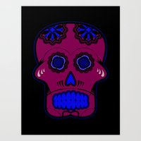calavera Art Prints featuring Calavera  by Cody Wilkes-Booth