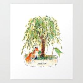 Weeping Willow Bonsai Art Print