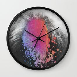 rainbow face Wall Clock