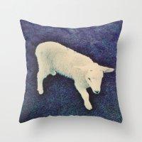 lamb Throw Pillows featuring Lamb by Richard PJ Lambert