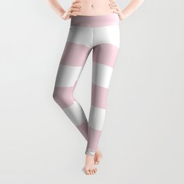 Pink Diamond (Ace Hardware Color) - solid color - white stripes pattern Leggings