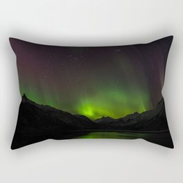Northern Lights in Norway 01 Rectangular Pillow