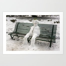 Do You Want To Build A Snowman? Art Print