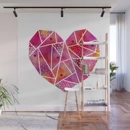 mosaic heart Wall Mural