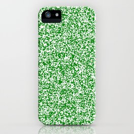 Tiny Spots - White and Green iPhone Case