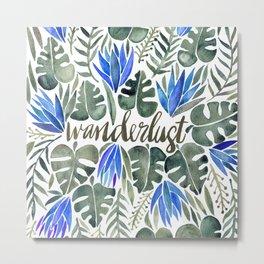 Tropical Wanderlust – Periwinkle Metal Print