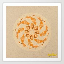 Sacral Chakra Mandala Art Print