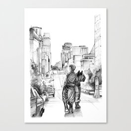 Lone Tiger Rider Canvas Print