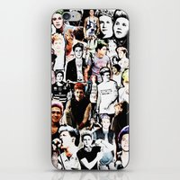 niall horan iPhone & iPod Skins featuring Punk Niall Horan College by Becca / But-Like-How