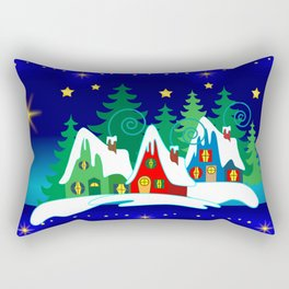 Home for the Holidays Picture,Christmas and Holiday Fantasy Collection Rectangular Pillow