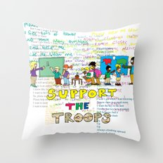 Support the Troops 2 Throw Pillow