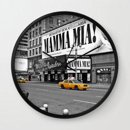 NYC Yellow Cabs Mamma Mia - USA Wall Clock