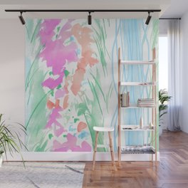 watercolor stripe Wall Mural