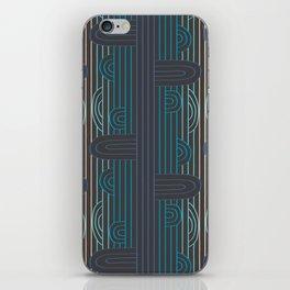 art deco stripe iPhone Skin