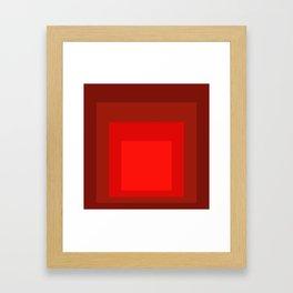 Block Colors - Reds Framed Art Print