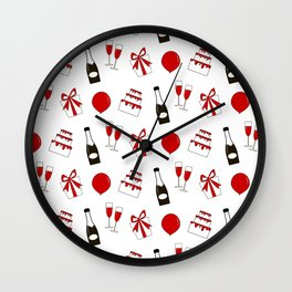 Party time pattern Wall Clock