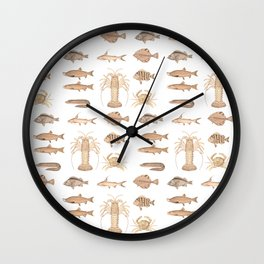 Vintage Assorted Fish Wall Clock