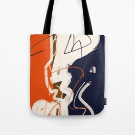 abstract painting orange blue Tote Bag