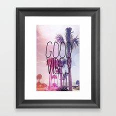 good vibes 2 Framed Art Print