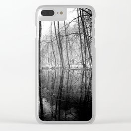 Tree Lines Clear iPhone Case